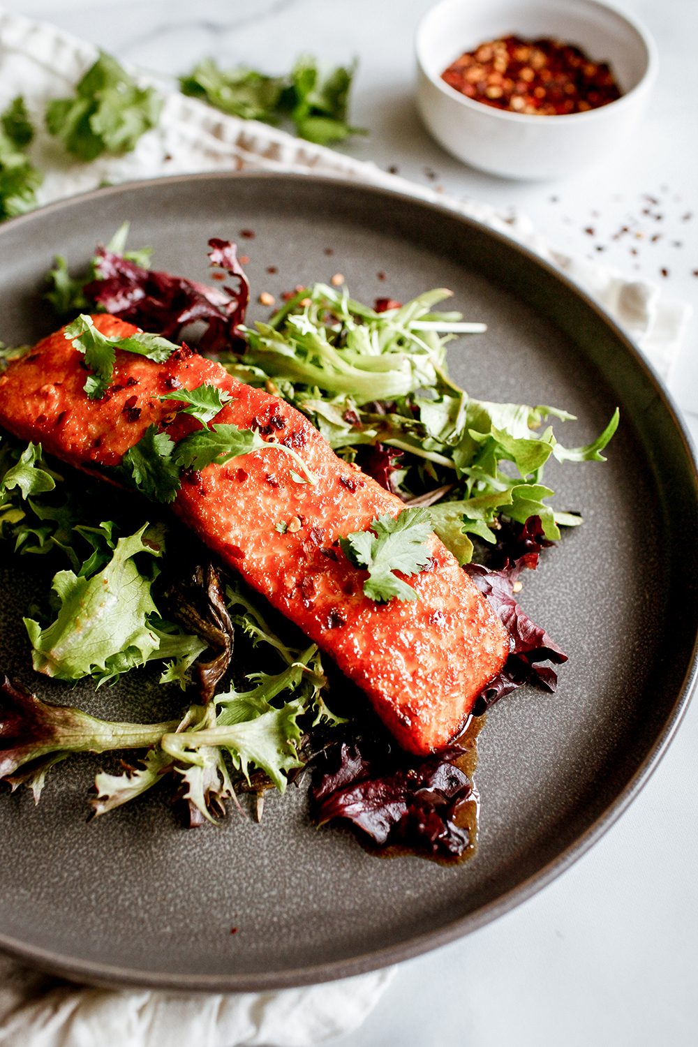 Spicy roasted salmon