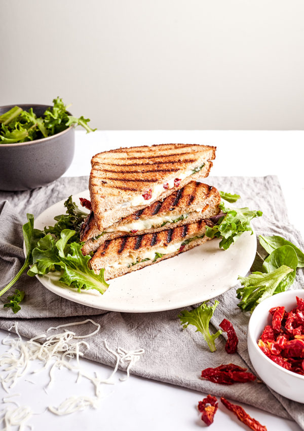 Feta grilled cheese with sun-dried tomatoes