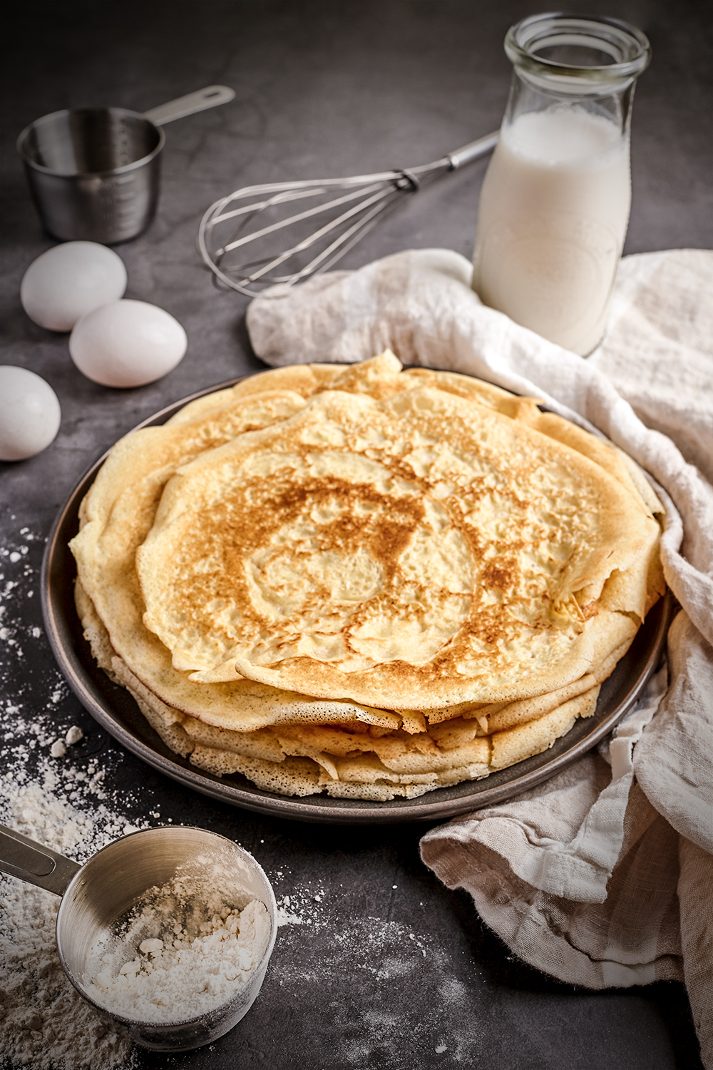 Simple French crêpes