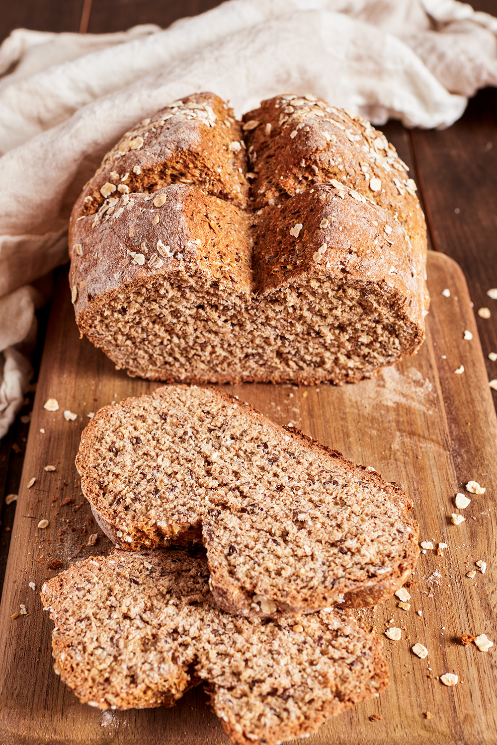 Irish soda bread with flaxseed