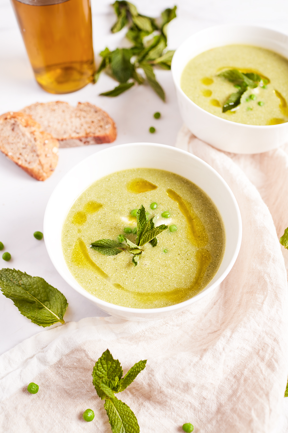 Peas and mint soup