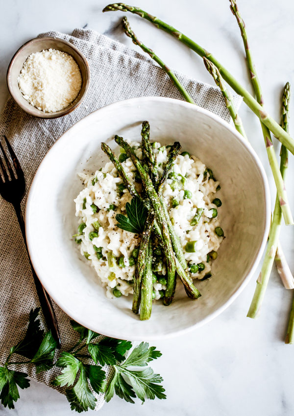 Spring asparagus risotto