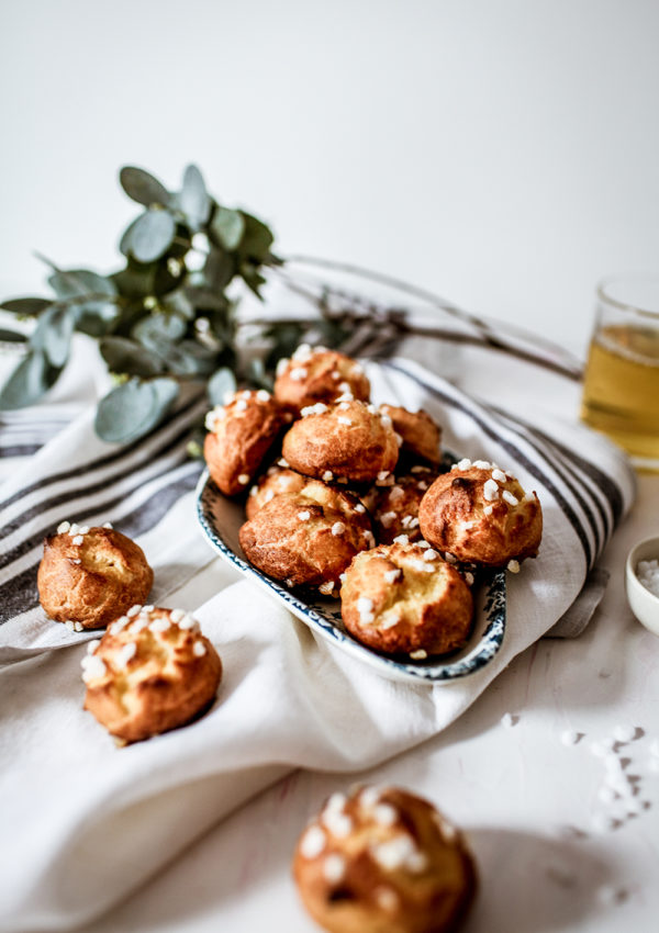 Delicious French chouquettes