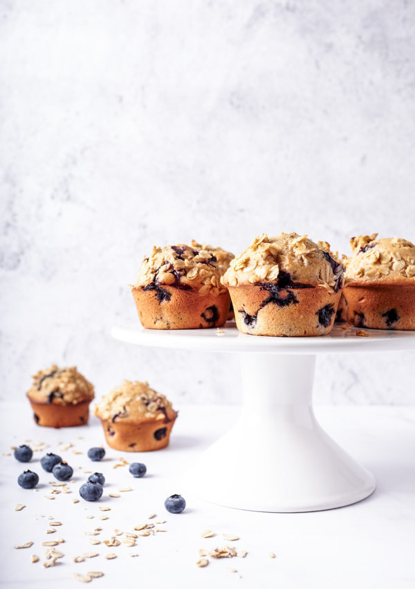 Blueberry muffins with whole wheat flour