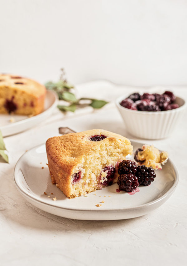Ricotta Blackberry Cake